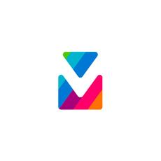 Via mail double vm v m monogram logo design symbol by alex tass