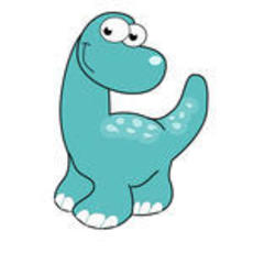 Illustration of cartoon dinosaur vector 143181511