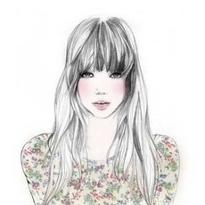 Art bangs floral girl illustration pretty favim com 98970 large