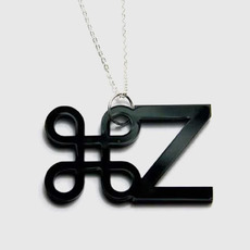 Ctrl z black1 full plastique neckla