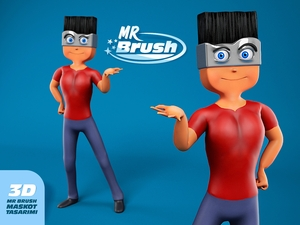 Mr brush maskot