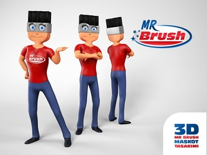 Mr brush maskot2