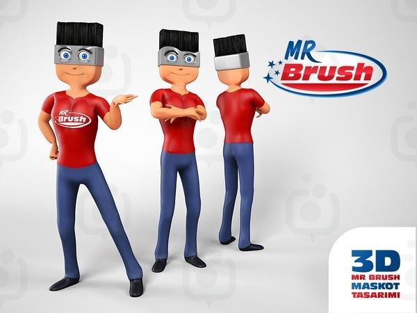 Mr brush maskot2
