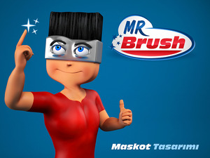 Mr brush maskot3