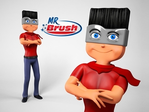 Mr brush maskot4
