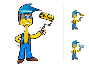 Mr. brush maskot