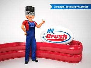 Mr brush maskot 6