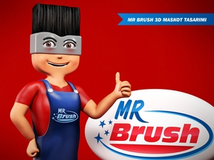 Mr brush maskot 7