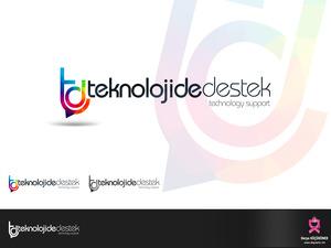 Teknolojide Destek Sayfamıza Logo projesini kazanan tasarım