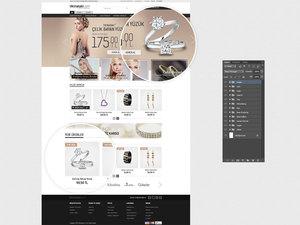 Proje#31902 - e-ticaret / Dijital Platform / Blog, Kuyumculuk / Mücevherat / Takı Ana sayfa tasarımı   #29
