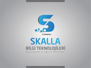 Skalla bilgi teknolojileri logo tasar m