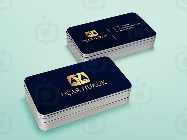 Stack business card mock up