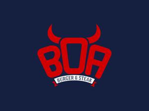 Boa burger ve steak logo 2