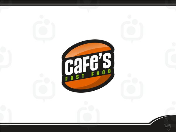 Cafe s fast food logo 3