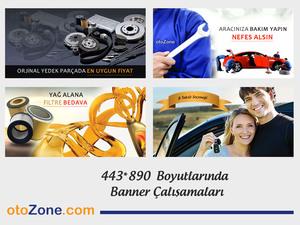 Proje#37959 - Otomotiv / Akaryakıt, e-ticaret / Dijital Platform / Blog İnternet Banner Tasarımı  #1