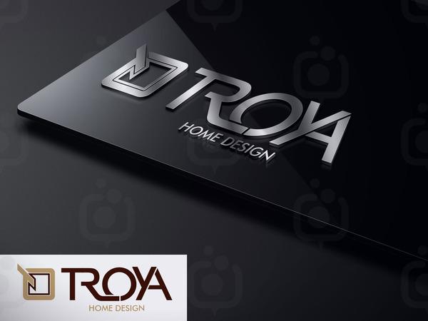 Troya home design logo