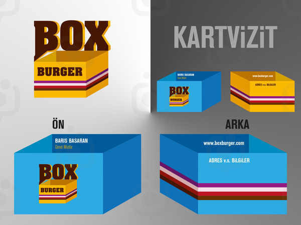 Boxburger logo kartvizit 2