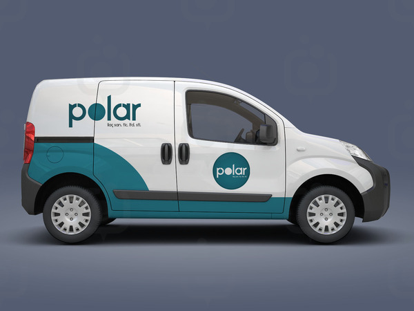Polar car mockup