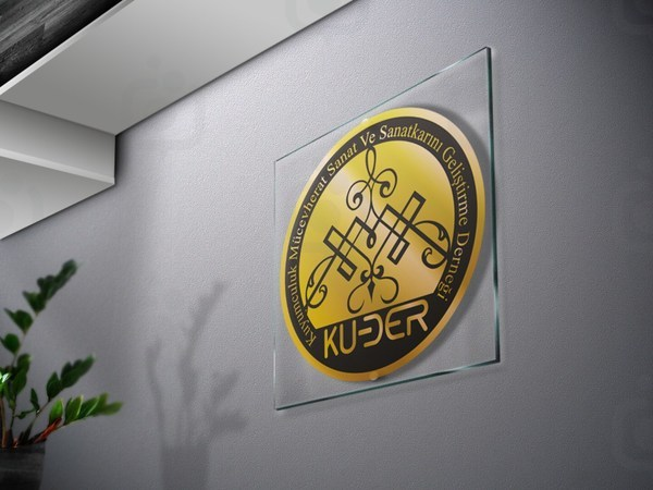 Logo on glass or poster  1600 x 1200