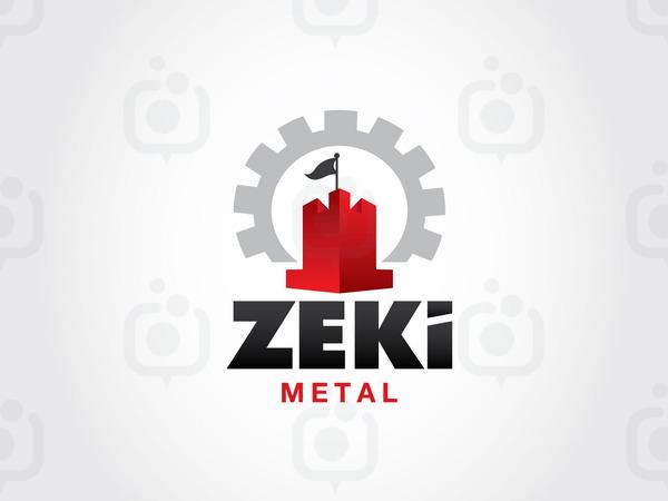 Zeki metal logo