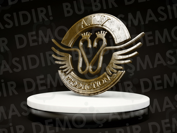 3d logo 2 design by fldizayn