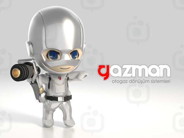 Gazman otogaz 3d maskot by fldizayn