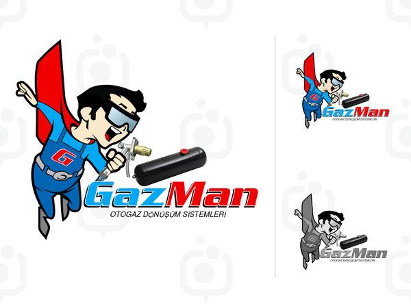 Gazman maskot logo