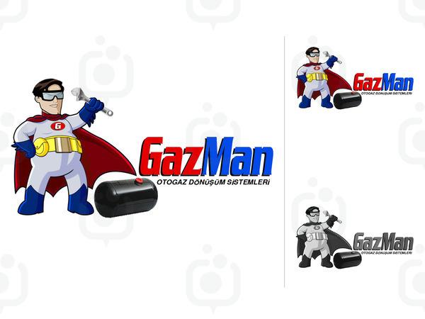 Gazmen maskot logo