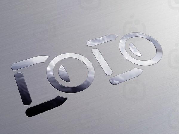 Metallic logo psd mock up  1600 x 1200