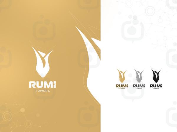 Rum  towers logoytpe sunum