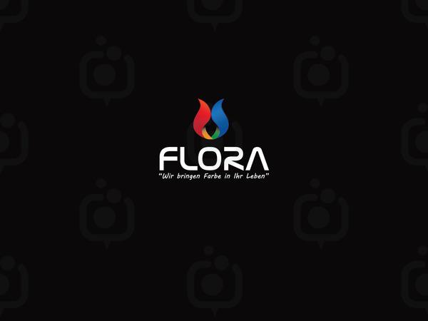 Flora logo siyah fon