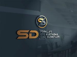 Sd forklift logo