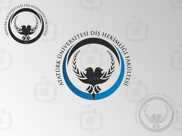 Atat rk  n versitesi di  hekimli i fak ltesi logo6