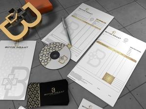 BÜYÜK İNŞAAT adlı firmamıza kurumsal kimlik projesini kazanan tasarım