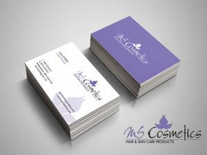 Ms cosmetics logo ve kartvizit