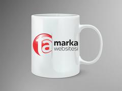 T A Logo Mug Tasarımı