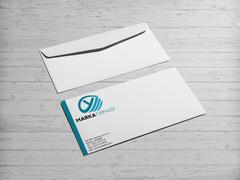 Y Harfli Marka Logosu Zarf Tasarımı