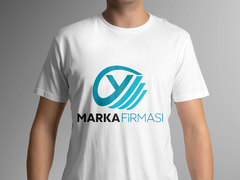 Y Harfli Marka Logosu T-shirt Tasarımı