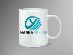 Y Harfli Marka Logosu Mug Tasarımı