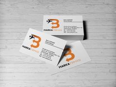 B Harfli Oklu Logo Kartvizit Tasarımı