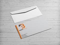 B Harfli Oklu Logo Zarf Tasarımı