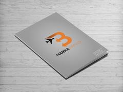 B Harfli Oklu Logo Dosya Tasarımı
