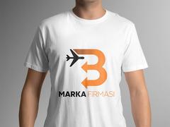 B Harfli Oklu Logo T-shirt Tasarımı