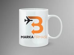 B Harfli Oklu Logo Mug Tasarımı