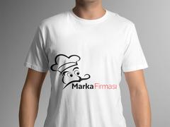 Aşçı Maskotlu T-shirt Tasarımı