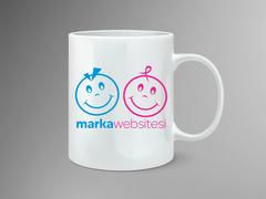 Gülen yüzler Logo Mug Tasarımı