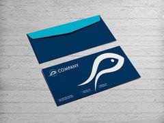 Balık Logo Zarf Tasarımı