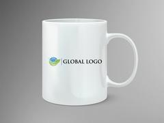 Global Logo Mug Tasarımı