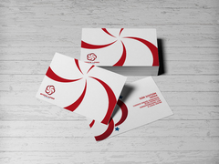 Kırmızı Logo Kartvizit Tasarımı