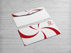 Kırmızı Logo Zarf Tasarımı